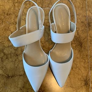 Ann Taylor white leather heels